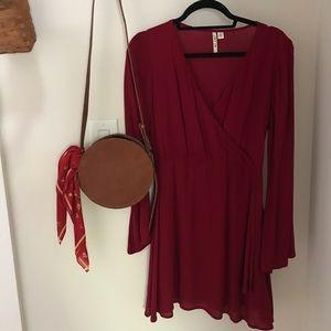 Francesca's Dress | Maroon